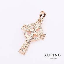 Подвеска Xuping Крест цвет золото 3х1,5см