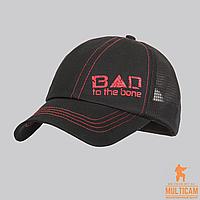 Бейсболка летняя Direct Action® Bad To The Bone Feed Cap - Black