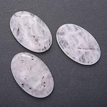 "Кулон из натурального камня Кварц ""волосатик"" овал 55х35мм(+-)"
