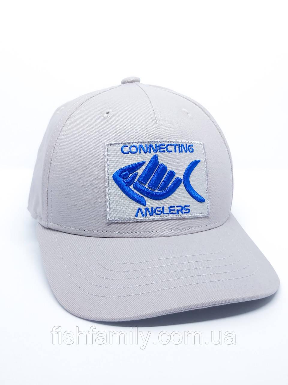 Бейсболка Connecting Anglers White
