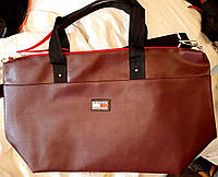 Женская и мужская городская бордовая сумка Tommy Hilfiger из искусственной кожи 40*30 см