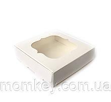 Коробочка з віконцем (біла) 120*120*30