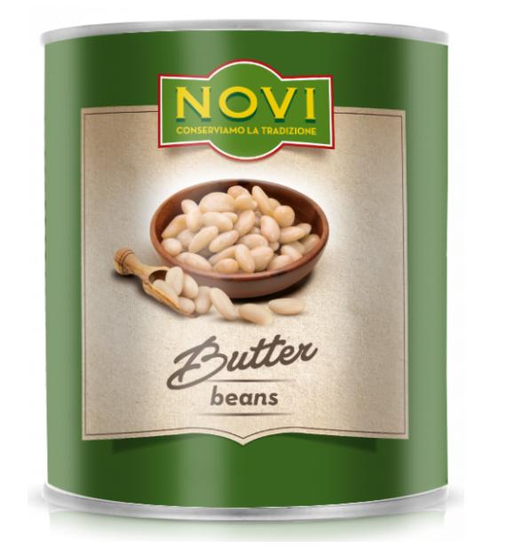 Квасоля NOVI Butter Beans (лімська) 400 г