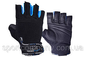 Рукавички для фітнесу PowerPlay 3092 Чорно-Сині L
