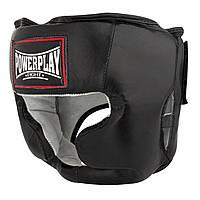 Боксерський шолом тренувальний PowerPlay 3065 Чорний S/M, фото 1