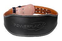 Пояс для важкої атлетики PowerPlay 5086 Чорно-Коричневий S, фото 1