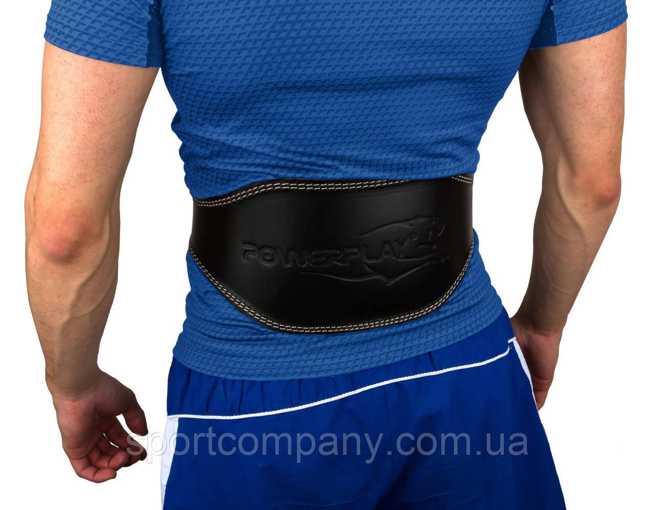 Пояс для важкої атлетики PowerPlay 5086 Чорно-Коричневий XL