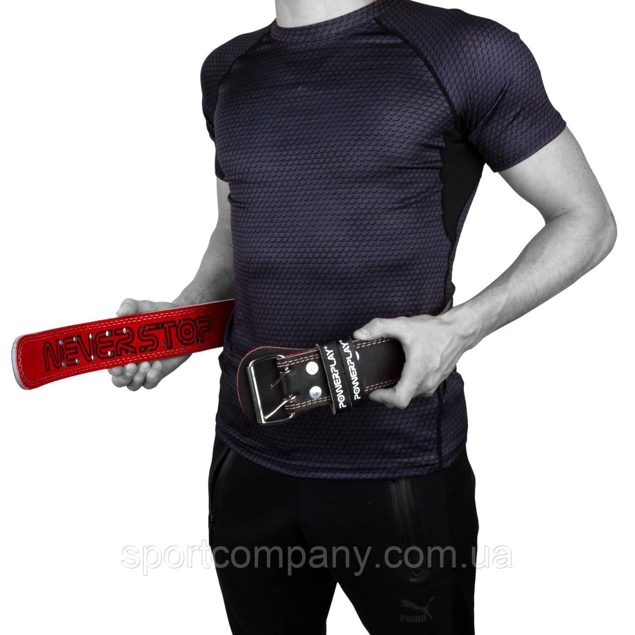 Пояс для важкої атлетики PowerPlay 5053 Чорно-Червоний S