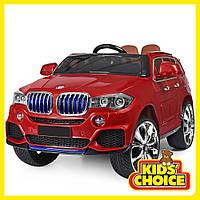 Электромобиль детский машина BMW X5 для детей от 3 до 8 лет BAMBI M 2762(MP4)EBLR-3 красный
