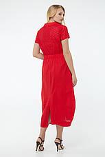 Платье женское летнее длинное красное, фото 2