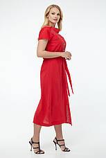 Платье женское летнее длинное красное, фото 3