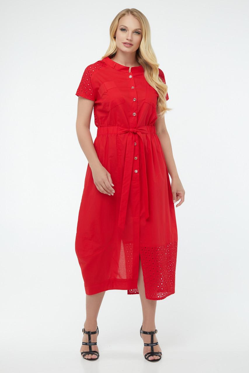 Платье женское летнее длинное красное