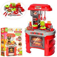 Кухня детская игровая 008-908A,45,5-69-26,5см, звук, свет, посуда