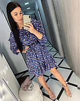 Платье женское цветочный принт 42-44,44-46