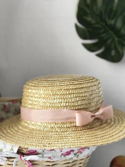 Соломенная шляпа канотье 277440-07-СТ