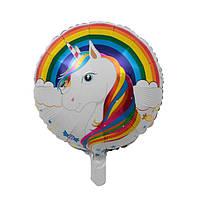 Фольгированный шар Единорог с радугой (Китай): продажа ...
