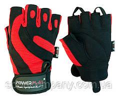 Рукавички для фітнесу PowerPlay 1598 Чорно-Червоні M