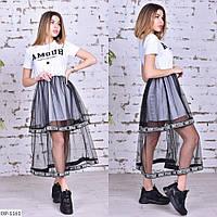 Модное трикотажное платье с евро сеткой арт 296