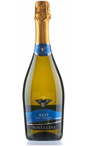 Ігристе біле сухе Brut Spumante Novellina (Шампанське Брют Новелліно) 0,75L, фото 2