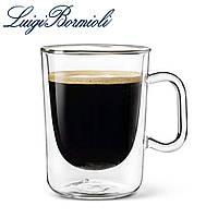 Чашка с двойным дном 300 мл, набор из 2 шт, стеклянная, прозрачная, серия Aroma Coffee, Luigi Bormioli