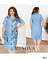 Сукня літня жіноча з льону