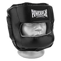 Боксерський шолом тренувальний PowerPlay 3067 з бампером PU + Amara Чорний S, фото 1