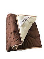 Одеяло двуспальное LaBella 170x210см.  Тёплое одеяло, наполнитель овечья шерсть   Ковдра шерстяна