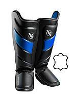 Захист гомілки і стопи Hayabusa T3 - Чорно-сині XL (Original), фото 1