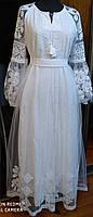 Платье вышиванка свадебная вышиванка выпускное платье вышиванка белым по белому вышивка на сетке