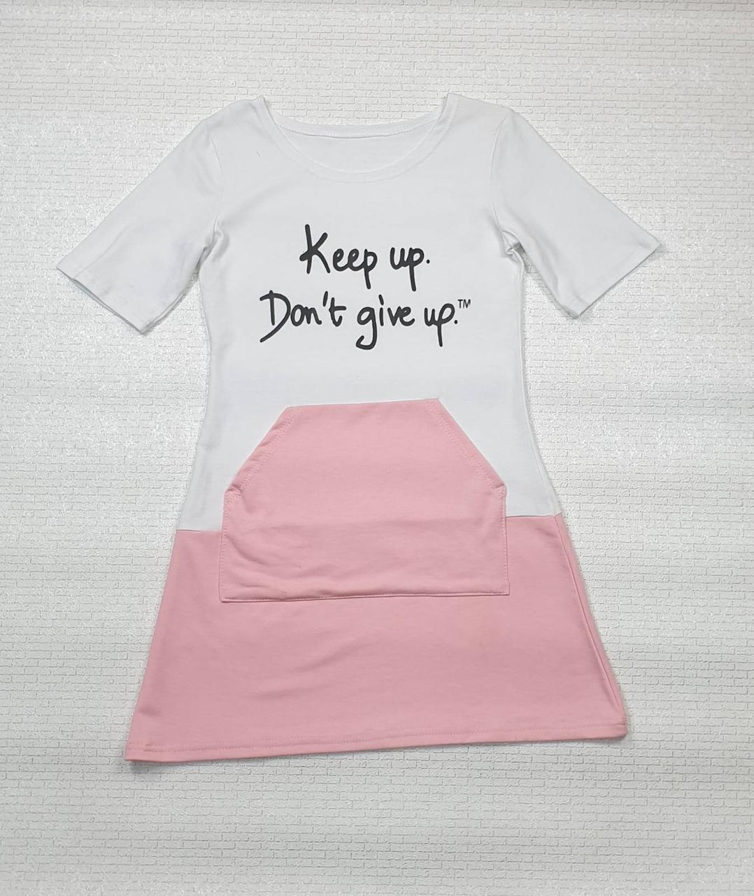 Платье для девочки р. 140-152 белый+розовый