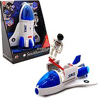Игрушечная ракета Айбемби, с космонавтом, 18х23х9 см, свет, звук (63102)