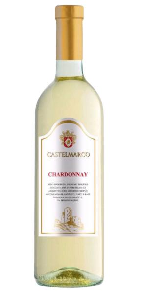 Вино біле сухе 0,75л. Chardonnay Castelmarco (Шардоне Кастелмарко)