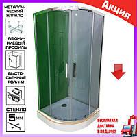 Душевая кабина полукруглая с низким поддоном 90х90 см Veronis KN-3-90 тонированное стекло