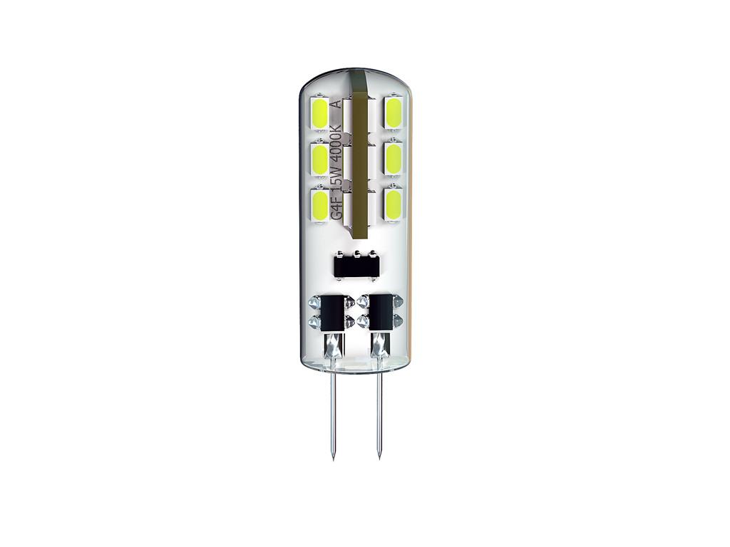 Лампа світлодіодна DELUX G4E 1,5Вт 3000K 12В G4 теплий білий