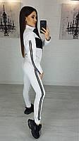 Женский спортивный костюм из двунити с лампасами 42, 44, 46, 48