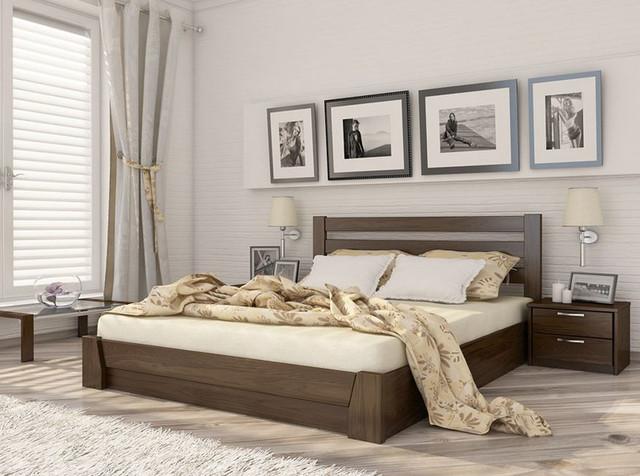 Кровать двуспальная Селена тм Эстелла Бук (Масив/Щит).