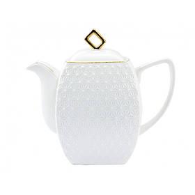 Чайник заварочный фарфоровый 900 мл Снежная Королева Interos 406618-А