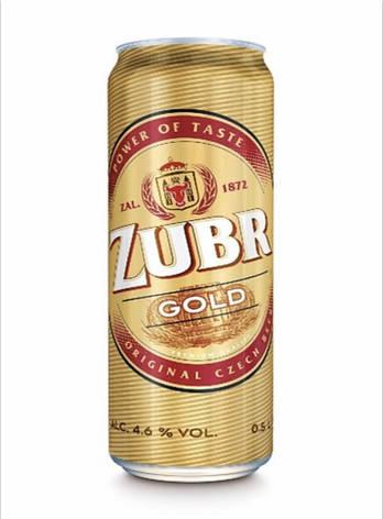 """ПИВО СВІТЛЕ """"Zubr"""" Gold, 0.5 л, фото 2"""
