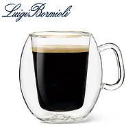 Набор чашек с двойным дном 300 мл, стеклянные, прозрачные, серия Supremo Coffee, 2 шт, Luigi Bormioli