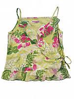Детская летняя блузка для девочки с запахом 128 см