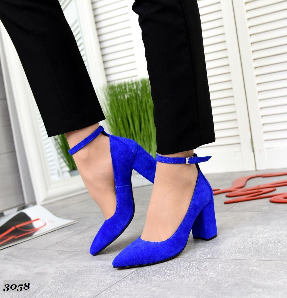 Женские Туфли //MEGANE// с ремешком, на устойчивом каблуке
