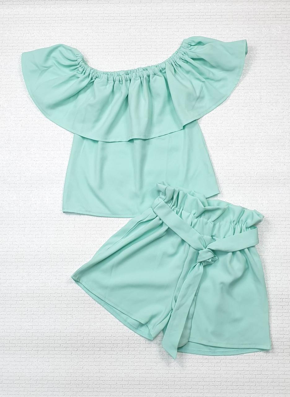 Комплект топ и шорты для девочки р. 122-134