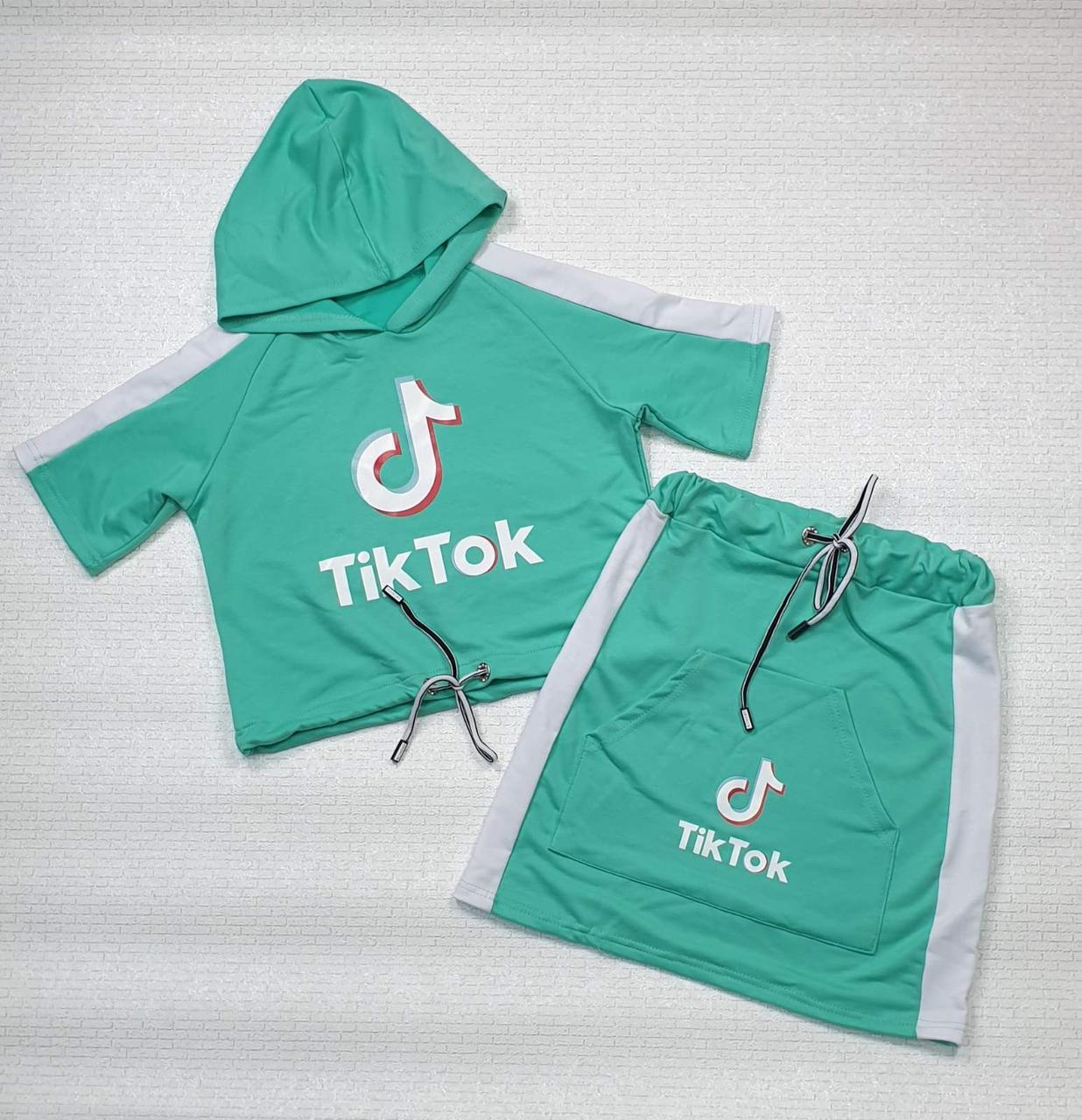 Комплект топ с капюшоном и юбка для девочки Tik Tok р. 122-134