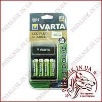 Зарядний пристрій VARTA LCD + USB + 4 акумулятора 2100mAh ОРИГІНАЛ