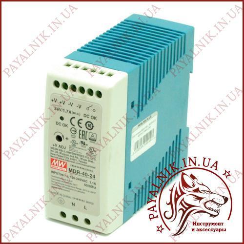 Блок питания MEAN WELL MDR-40-24 40Вт AC230В/DC24В