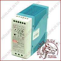 Блок питания MEAN WELL MDR-40-24 40Вт AC230В/DC24В, фото 1