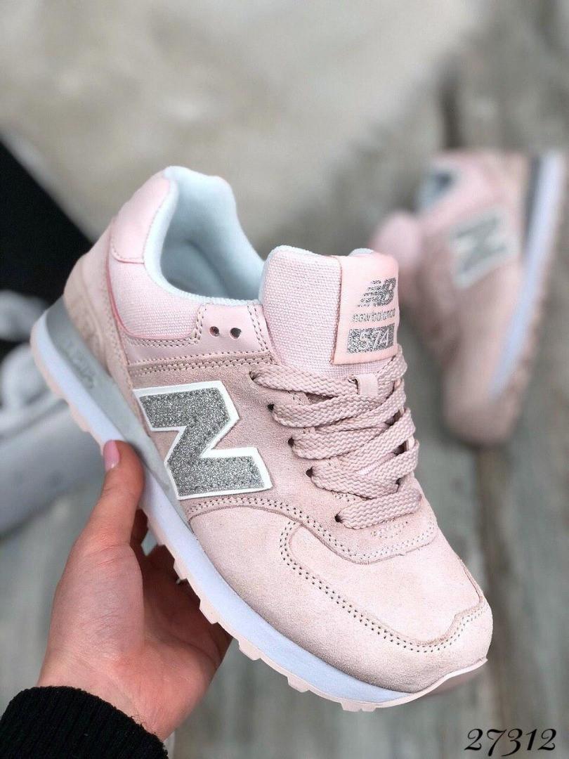 Кроссовки замшевые NB розовый Материал: натуральный замш 40 размеры