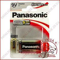 Батарейка Panasonic Everyday 9V 6LR61 Крона (MN1604) alkaline