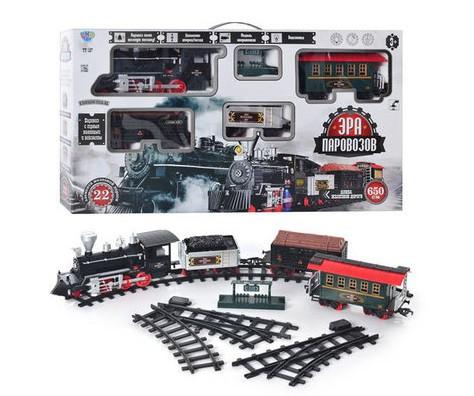 """Залізниця """"Ера паровозів"""" Limo Toy 701831 R/ YY 127 довжина дороги 650 см"""