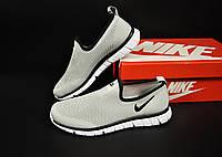 Кроссовки мужские Nike серые, Найк, дышащий материал, прошиты. Код KR-20811